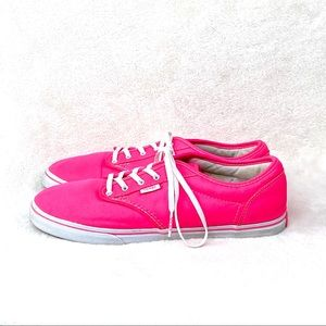 VANS Neon Pink Lace Up Skate Shoes Size 10